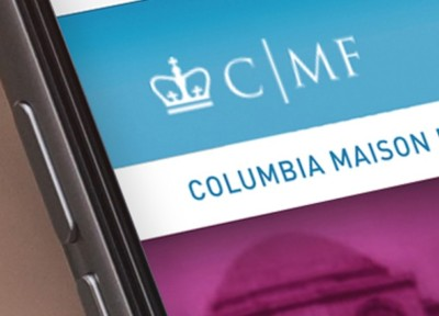 Columbia Maison Française website and identity